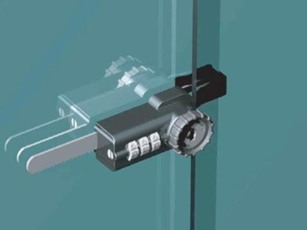 Combination ratcheting lock for showcase show case sliding glass door - Sliding door combination lock ...