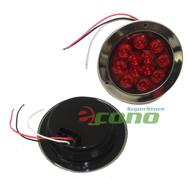 Led Lights For Tractor Trailers : Pcs led quot round lamp stop tail turn truck tractor