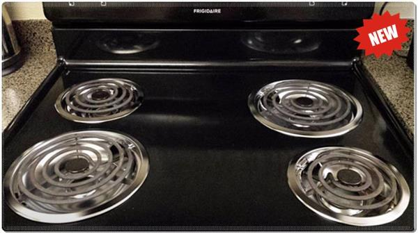 Whirlpool Stove Drip Pan Kit Chrome Burner Bowls Top