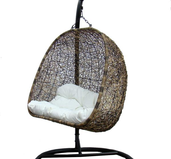 Tri Color Double Seater Outdoor Corina Wicker Swing Chair ...