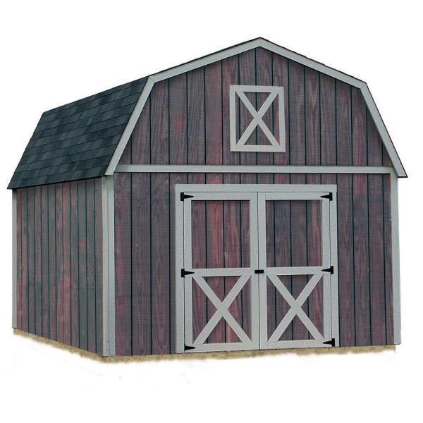 12 Ft X 20 Ft Outdoor Wood Storage Tool Shed Gambrel Barn
