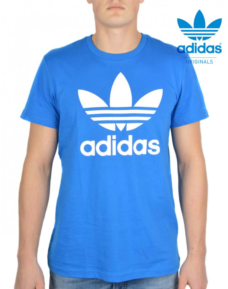 Adidas Originals Tee Trefoil Blue FREE POST New Mens Skateboarding T-Shirt