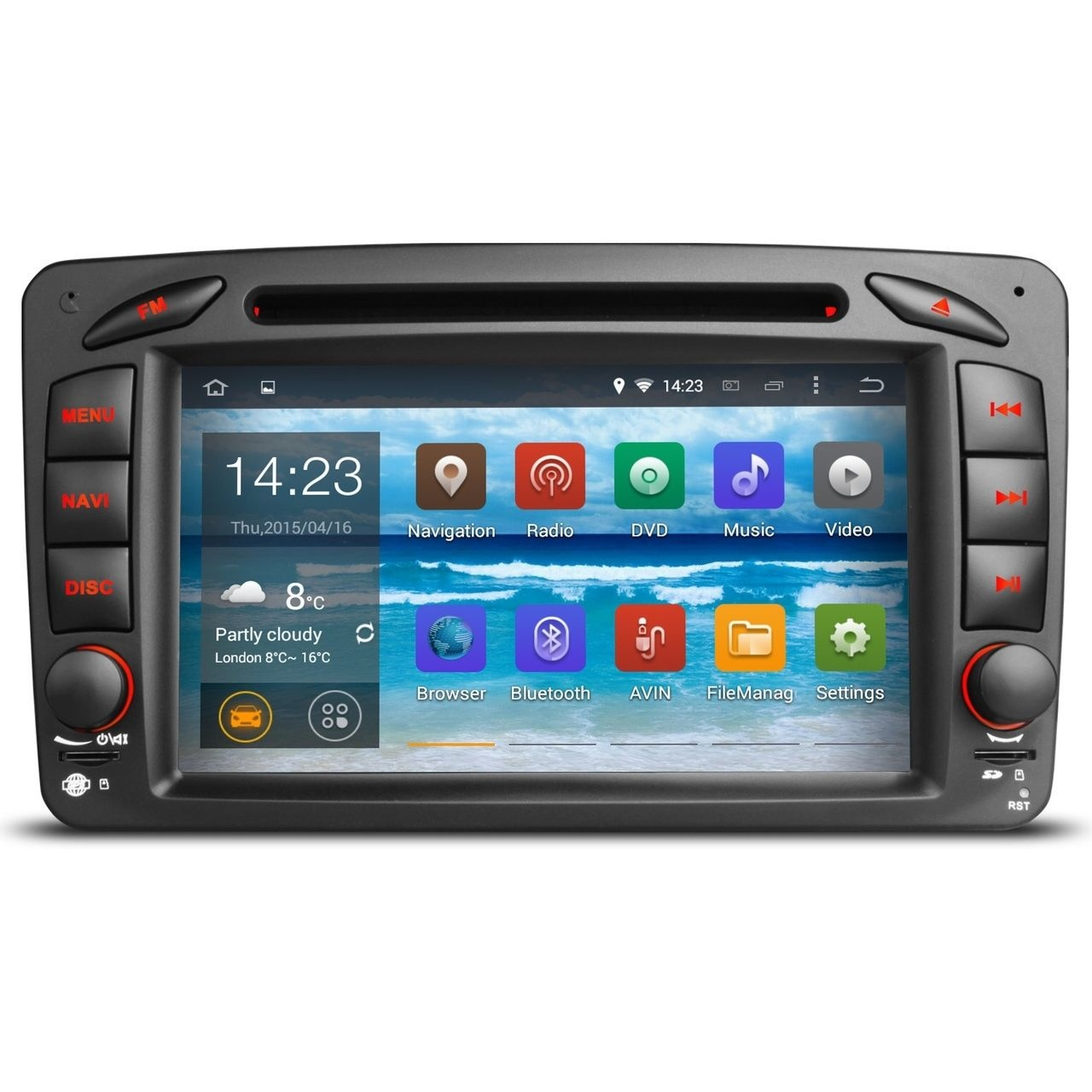 mercedes clk w208 w209 android 5 1 headunit radio stereo. Black Bedroom Furniture Sets. Home Design Ideas