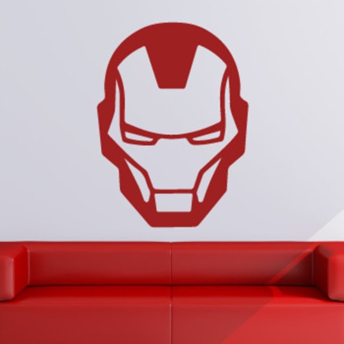 Iron Man Superhero Head Logo Wall Art Sticker (AS10222) | eBay