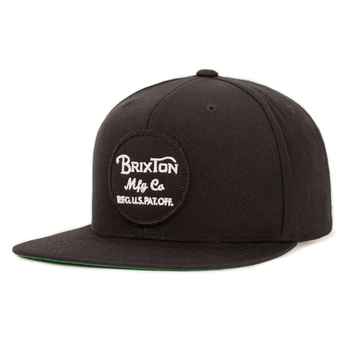 Brixton Cap Wheeler Black Snapback FREE POST New Skateboard Hat