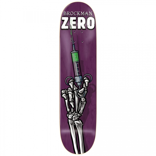 Zero Skateboard Deck James Brockman Skeleton Hands 8.125 R7 FREE POST FREE GRIP New kingpin skate supply