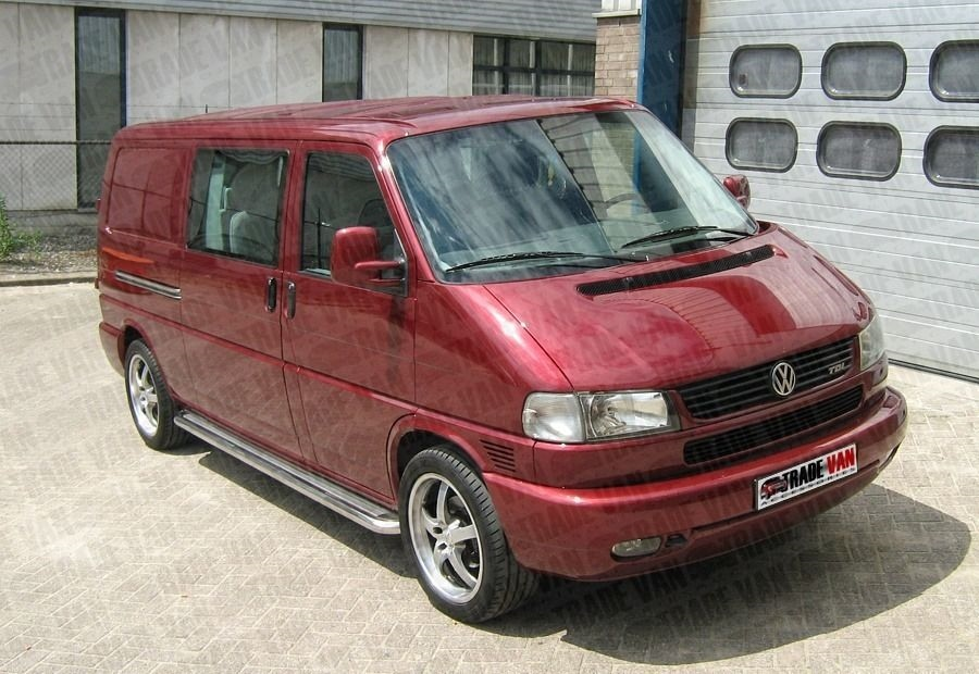 vw t4 transporter side bars side steps c2 swb stainless. Black Bedroom Furniture Sets. Home Design Ideas