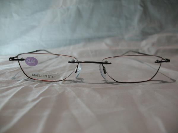 InSight Mocha Rimless Reading Glasses +1.00 1.25 1.50 1.75 ...