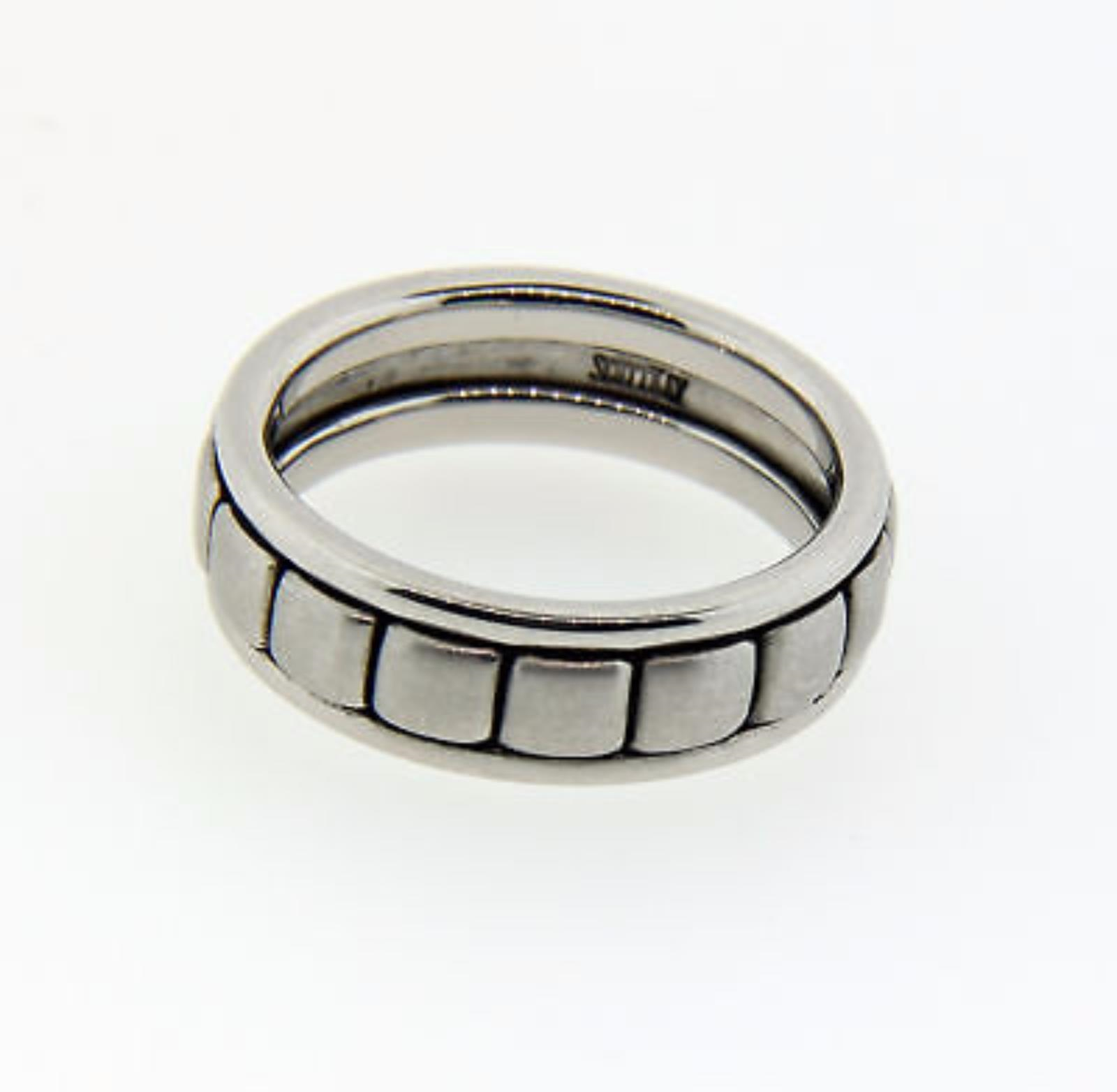 New With Tags Scott Kay Platinum Mens 6mm Wedding Band
