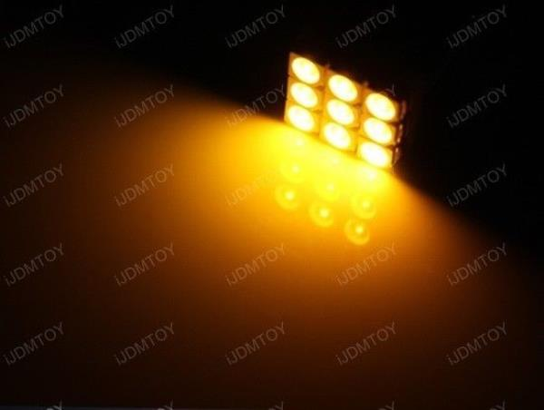 Amber Yellow T SMD LED Bulbs For Car Interior Map - Street light map us