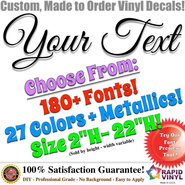 Custom Vinyl Lettering Decal Car Decals Sign Banner Window Letter - Custom made window decals for trucks