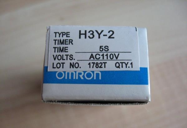 omron delay on timer time relay 0 5~5sec 2 pole 110vac h3y 2 w please see photos questions welcome thanks for looking