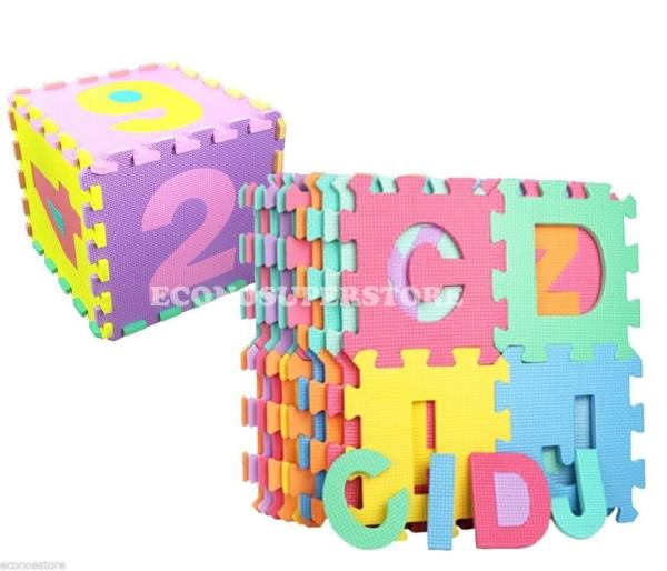 36pc Learning Alphabet Letter Amp Number Puzzle Foam Abc 123