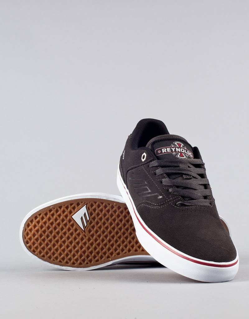 Emerica Shoes Reynolds Low Vulc x Indy Trucks Dark Grey FREE POST New Skateboard Sneakers