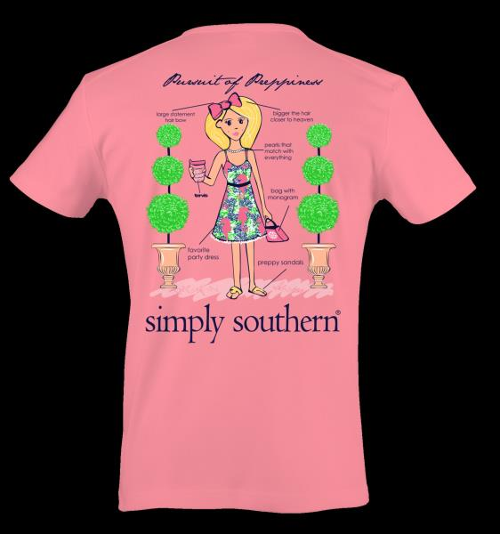 d3f951d76787e0 Simply Southern Ginger Pursuit Of Preppiness Cotton Tee Shirt ...