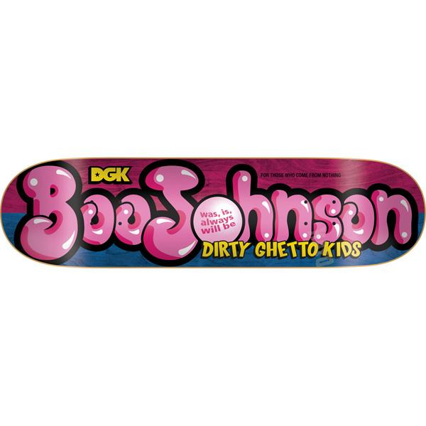 DGK Skateboard Deck Boo Johnson Poppin 8.25 FREE GRIP POST Dirty Ghetto Kids