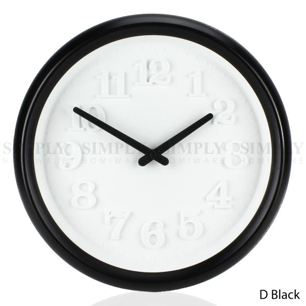 Wall clock large modern clocks kitchen black white red - Black and white kitchen clock ...