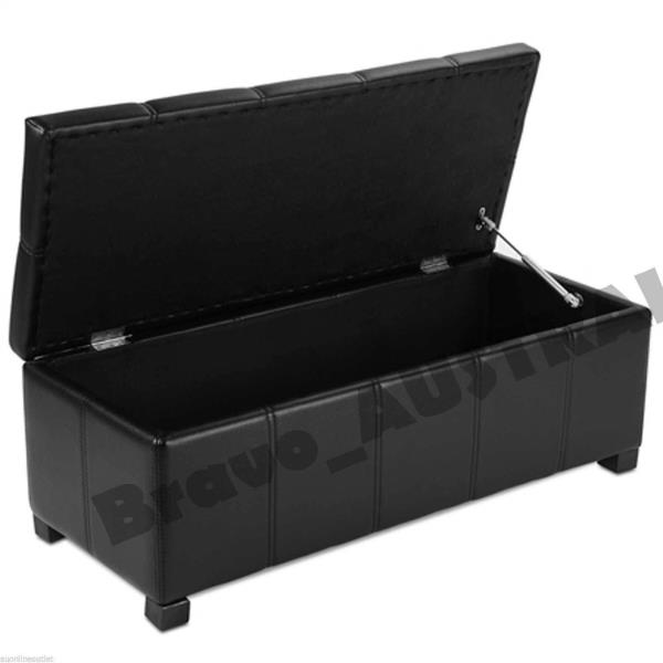 Blanket box storage ottoman large toy chest foot stool foyer seat bed footrest ebay - Seat at foot of bed ...