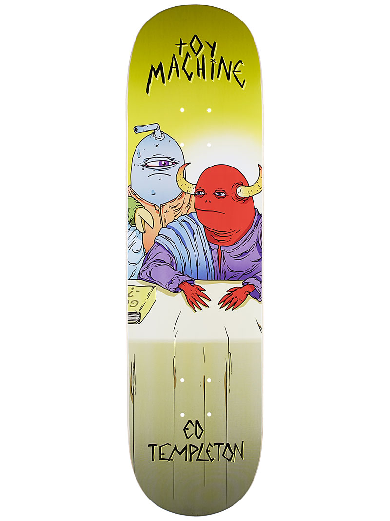 Toy Machine Skateboard Deck Templeton Last Supper 8.375 Pro 1 of 8 FREE POST & FREE GRIP
