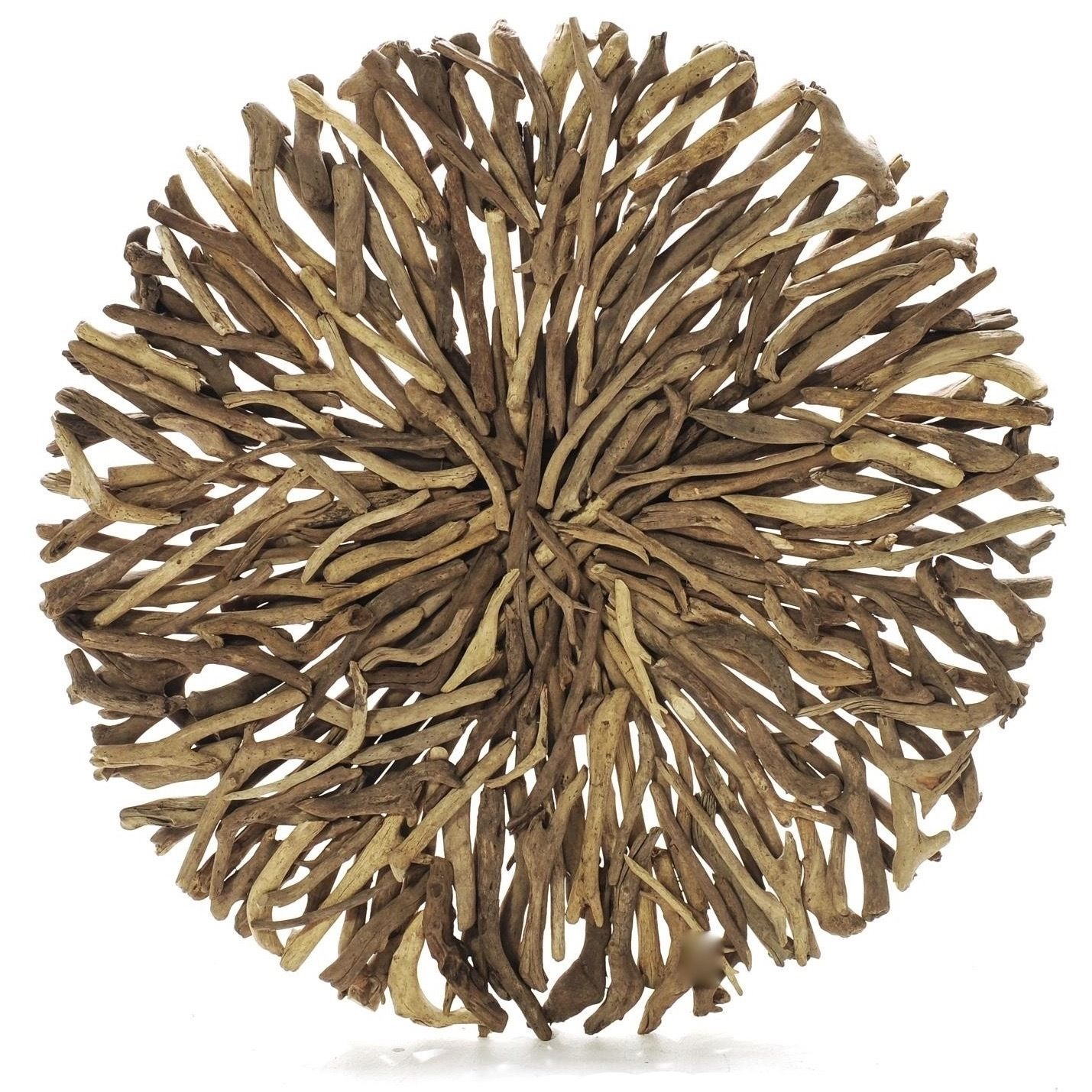 Round Outdoor Wall Decor : Driftwood round wall hanging art indoor outdoor