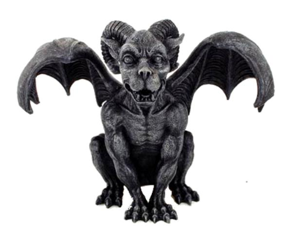 "Ram Horned Winged Gargoyle Guardian 6"" Table Top Figurine ..."