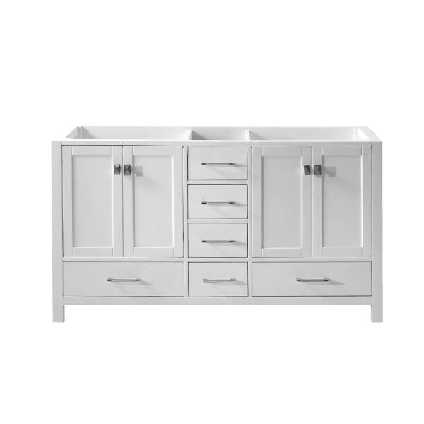 avenue 60 double bathroom vanity cabinet in white cabinet only ebay