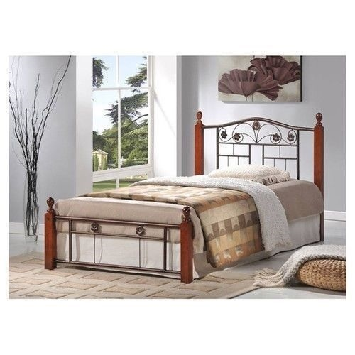 new twin full queen size metal wood mattress bed frame headboard footboard brown ebay. Black Bedroom Furniture Sets. Home Design Ideas