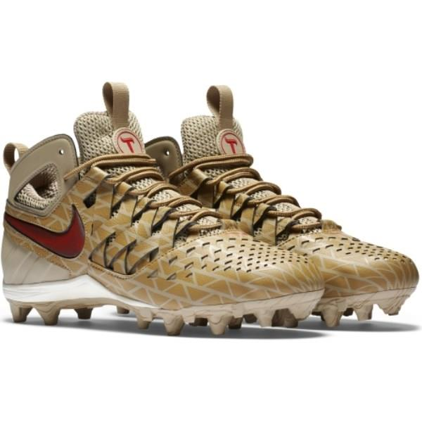 cheap for discount 1a213 bfd7a ... New Men s Nike Huarache V LAX Elite Lacrosse Cleats Khaki Brown ...