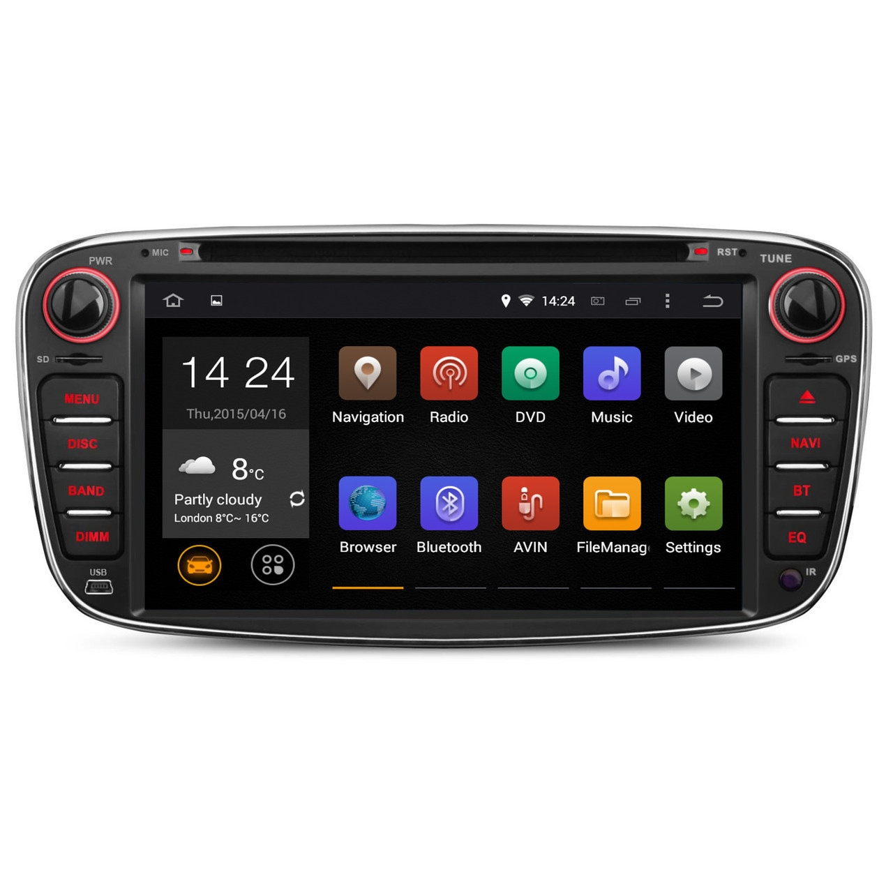 ford focus mk2 android 5 1 head unit radio stereo. Black Bedroom Furniture Sets. Home Design Ideas