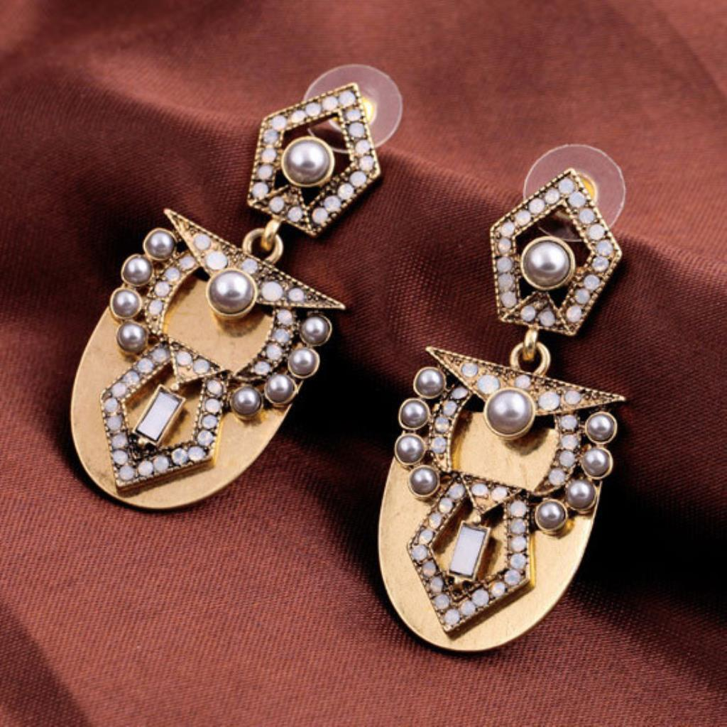 Forever 21 pearl embellished earrings ebay for Forever 21 jewelry earrings