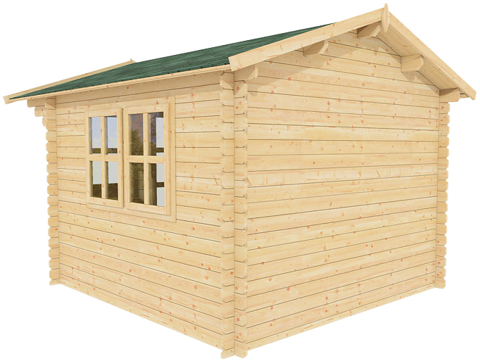 All natural wood garden storage shed kit play pool house