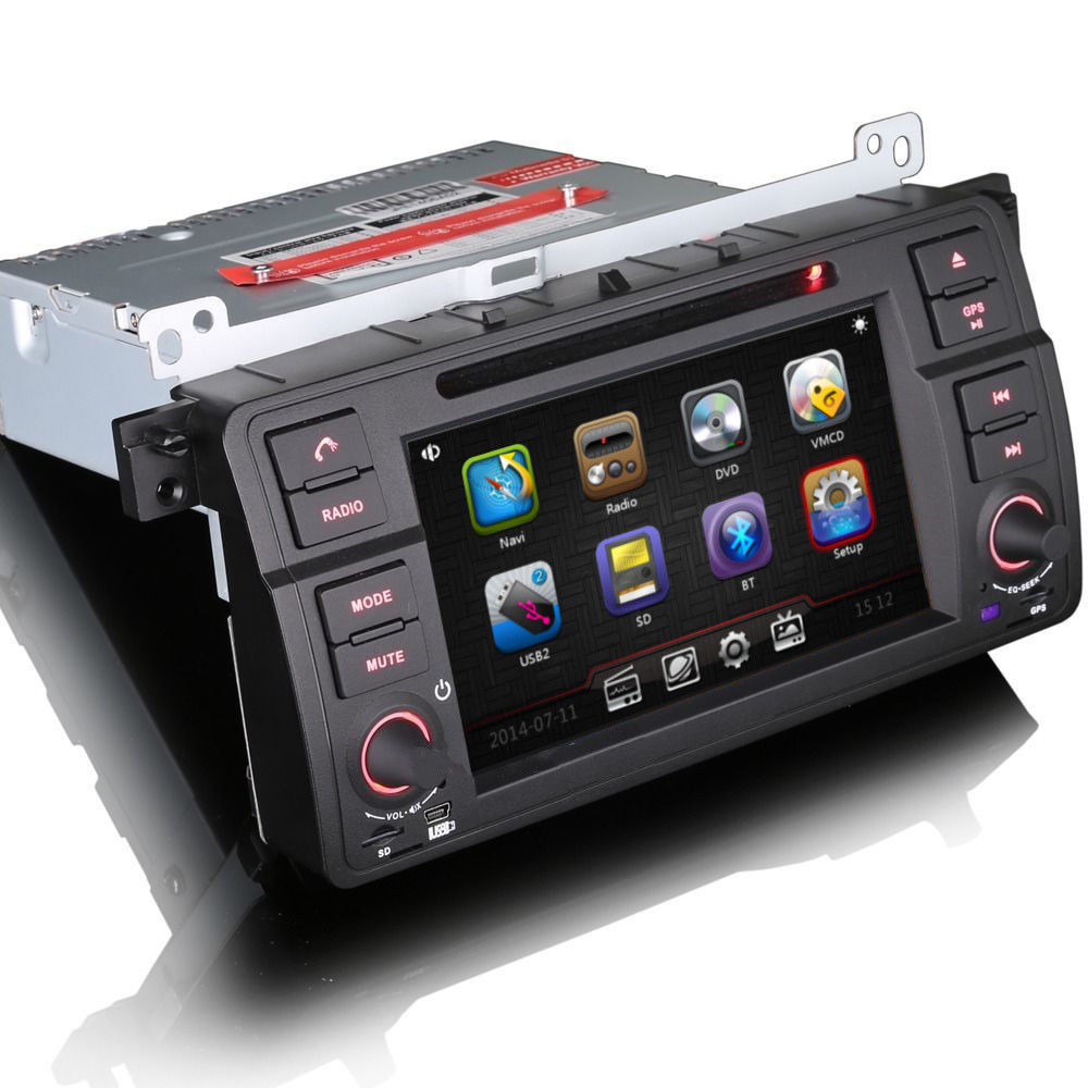 bmw 3 series e46 m3 satnav gps car stereo bluetooth usb. Black Bedroom Furniture Sets. Home Design Ideas