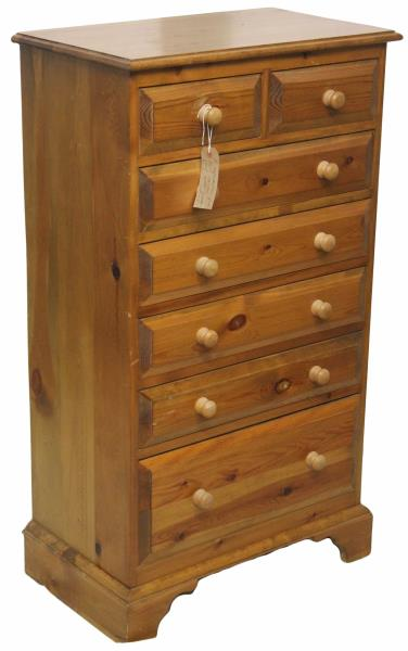 Pine Bedroom Chest Of Drawers Tall And Narrow With A