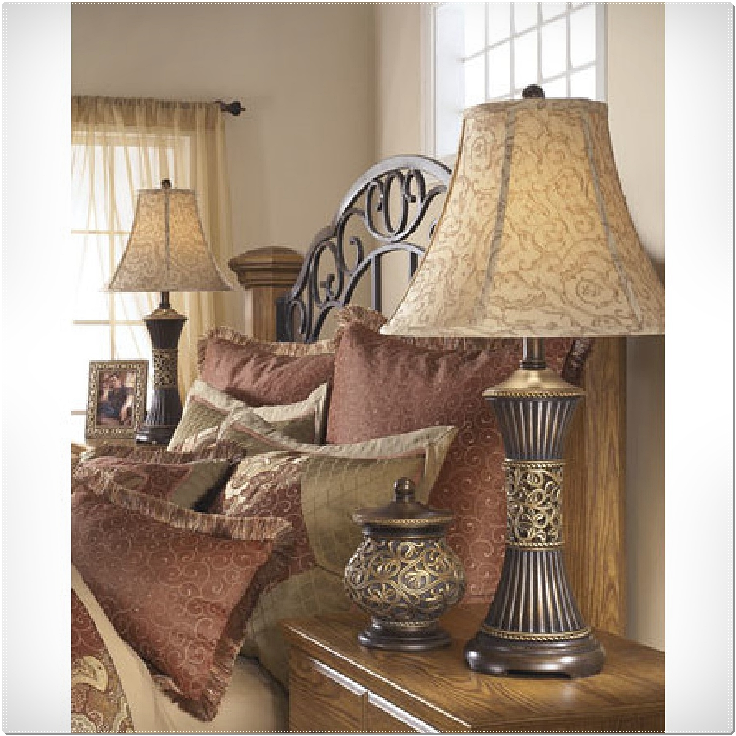 Lamps For Bedroom Nightstands: PAIR OF 2 TABLE LAMPS SHADE LIGHT BEDROOM NIGHTSTAND LAMP