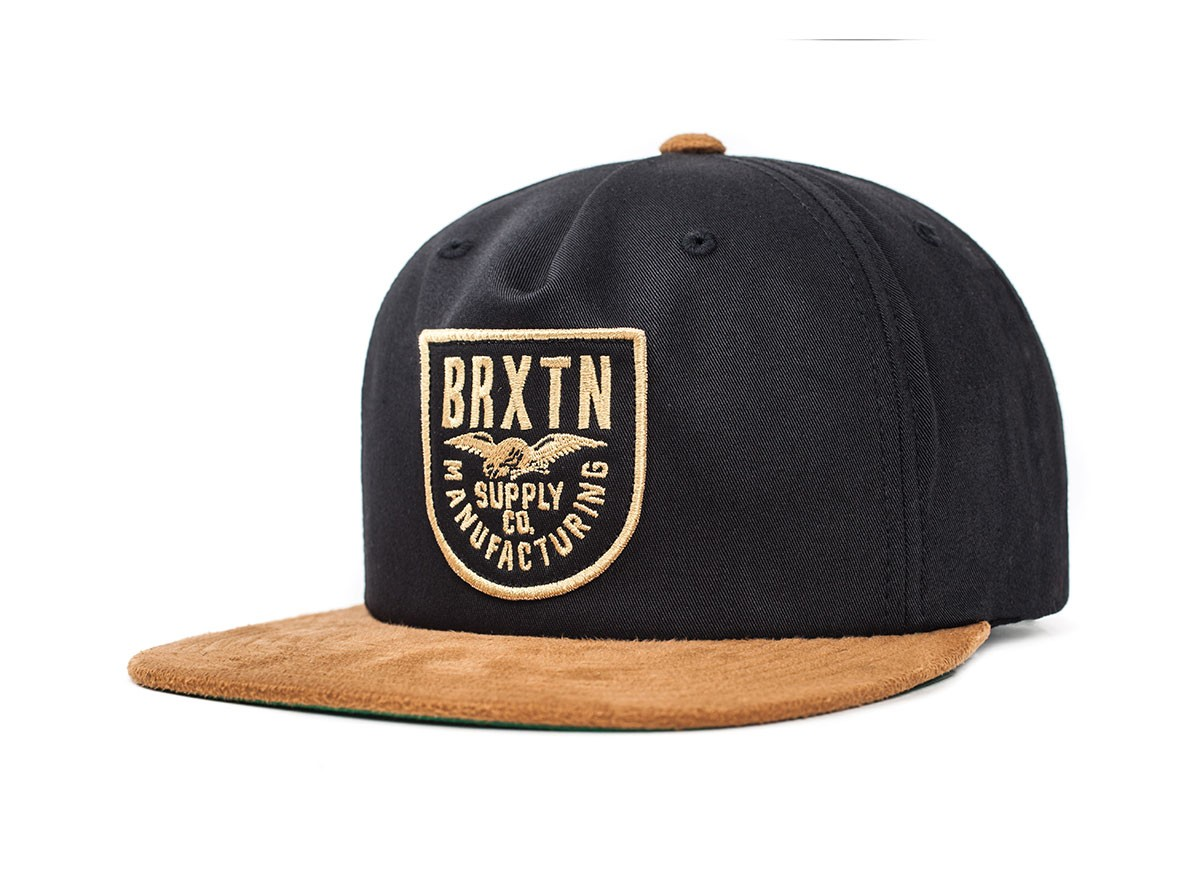 Brixton Cap Alliance Black Copper Snapback FREE POST