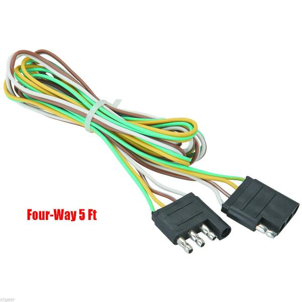 5 Trailer Light Wire Harness 4 Way Wire Flat Connector