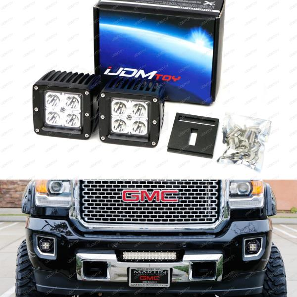 40w cree led pods w foglamp bracket wirings for gmc. Black Bedroom Furniture Sets. Home Design Ideas
