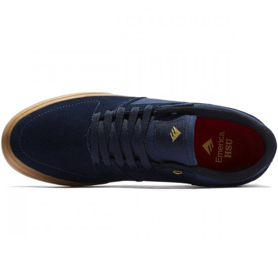 Emerica Shoes Hsu Low Vulc Navy Gum USA Size New FREE POST Skateboard Sneakers