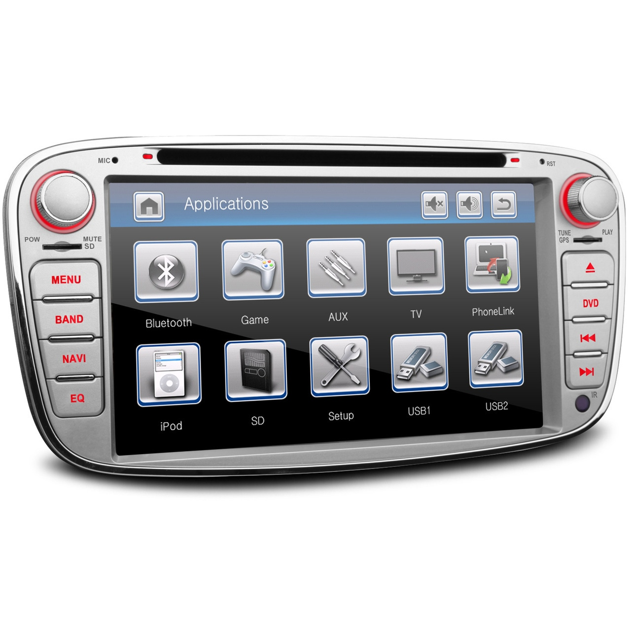 silver ford mondeo mk4 oem style ui stereo kudos satnav. Black Bedroom Furniture Sets. Home Design Ideas