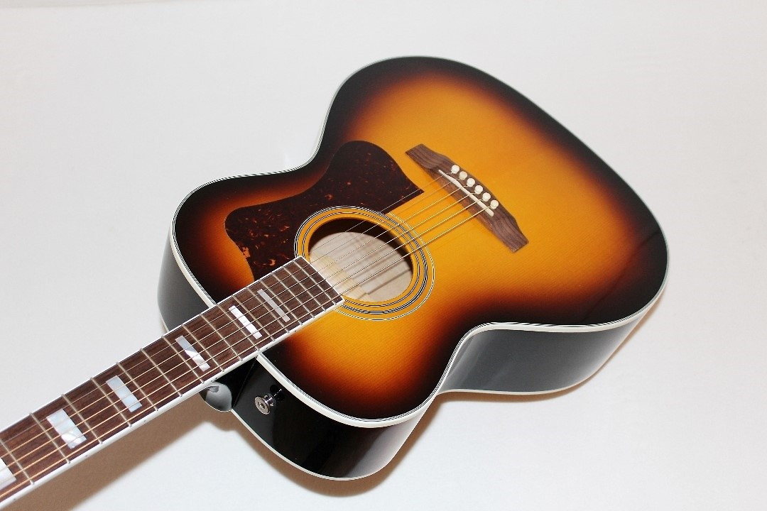 guild f 47m usa made grand orchestra acoustic guitar w case ebay. Black Bedroom Furniture Sets. Home Design Ideas