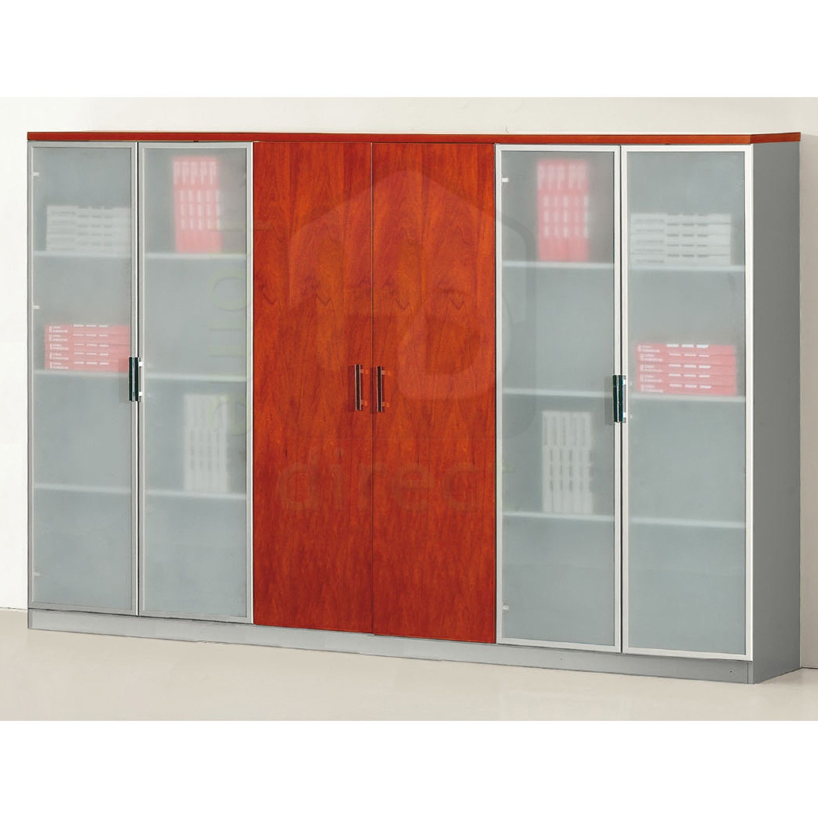 Www Modern Furniture: 6 Door Display Wall Unit Cabinet Book Shelf Cupboard
