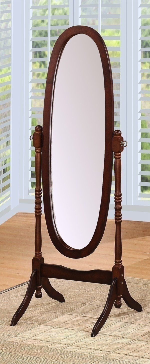 New floor full length mirror espresso dressing room stand for Stand up mirror