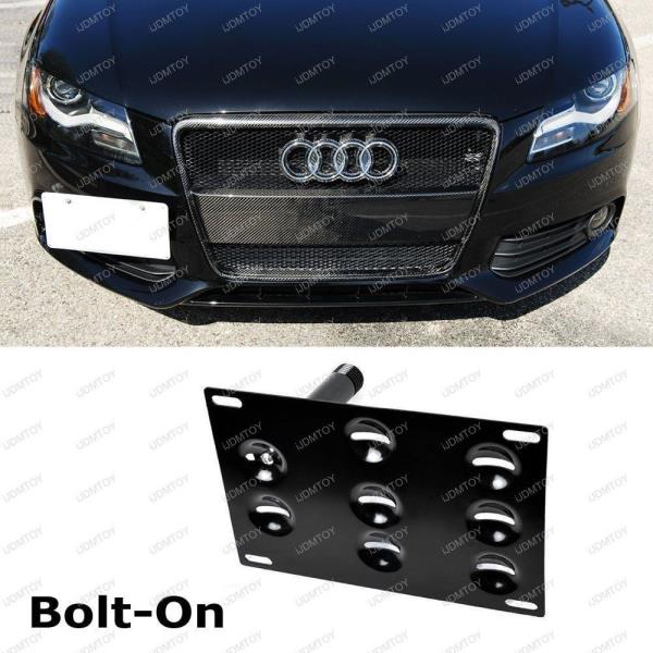 Bumper Tow Hook License Plate Mounting Bracket For Audi A4