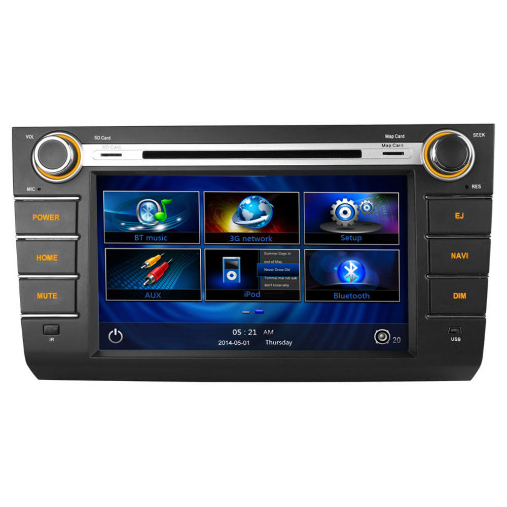 8 suzuki swift 2006 2010 oem style dvd radio kudos gps. Black Bedroom Furniture Sets. Home Design Ideas