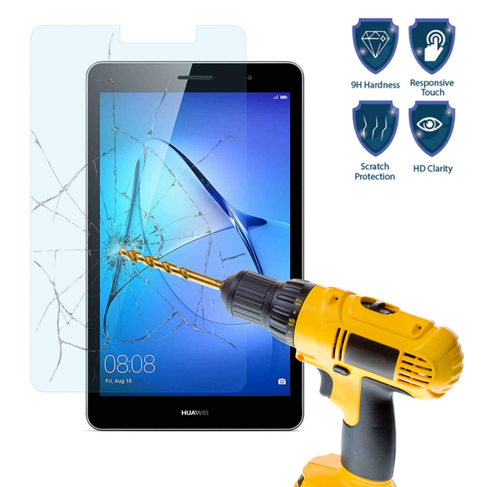 huawei 8 inch tablet. tempered glass screen protector cover for tablet huawei mediapad t3 8 inch