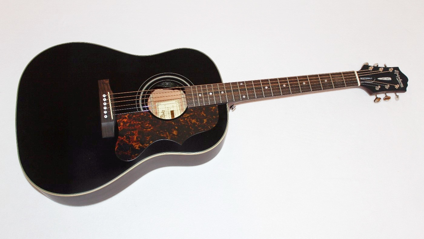 epiphone masterbilt aj 45me black acoustic electric guitar ebay. Black Bedroom Furniture Sets. Home Design Ideas