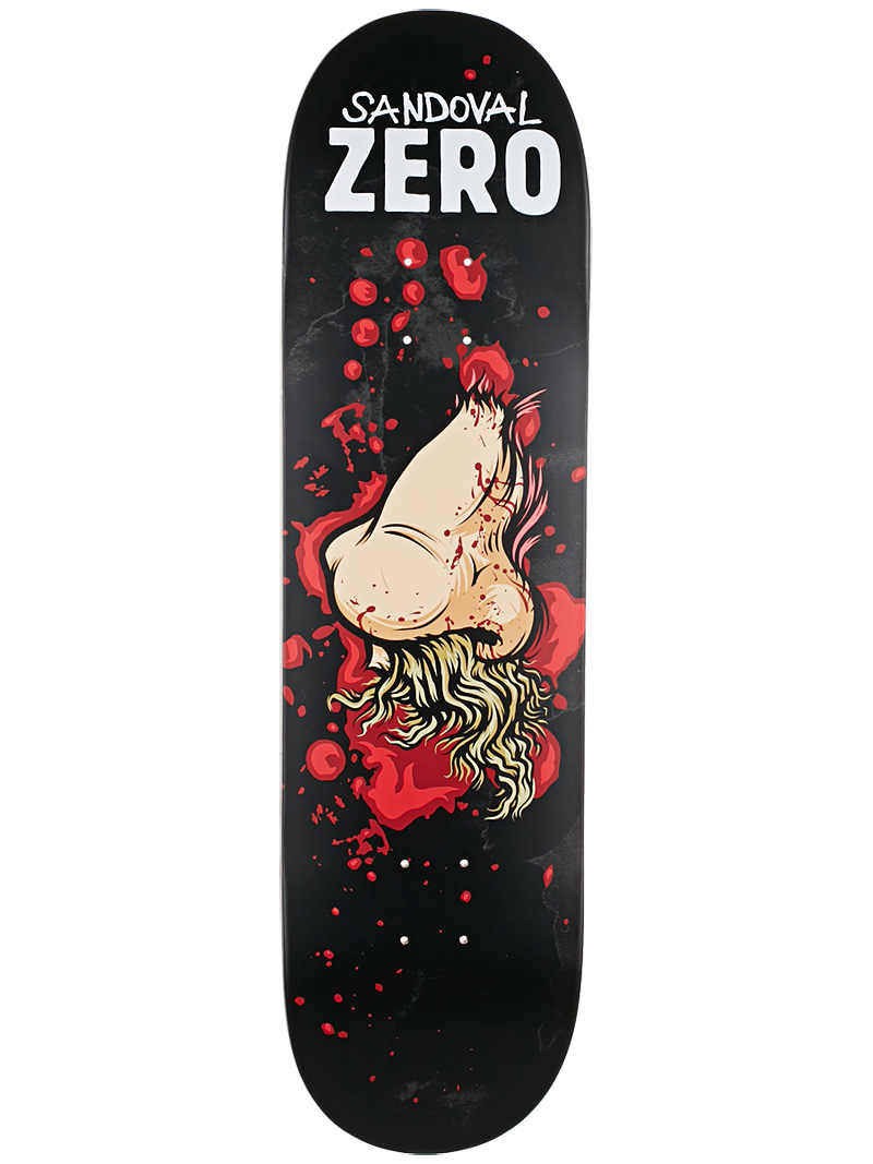 Zero Skateboard Deck Tommy Sandoval 8.375 Severed Ties R7 FREE POST and GRIP New