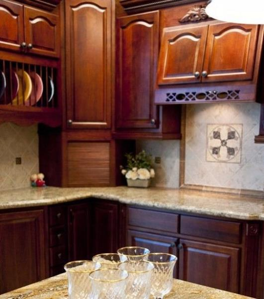 Solid Wood Cherry Kitchen Cabinets: Solid Wood Kitchen Cabinets Sample Door