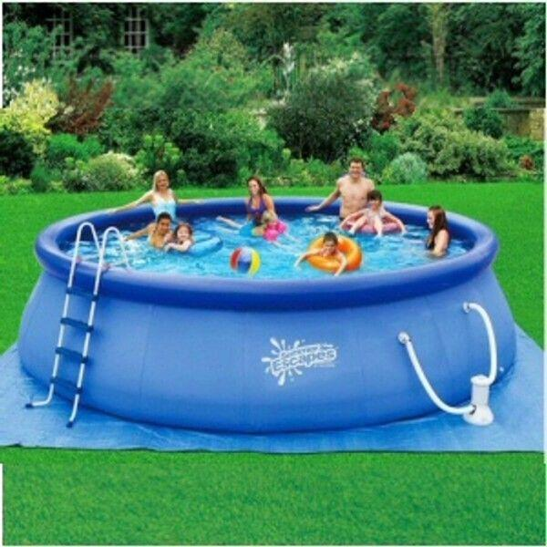 18 39 x 48 inflatable quick set pool set ebay for Quick up pool oval