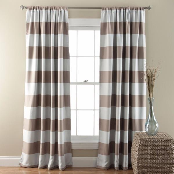 NEW Set 2 Window Curtains Panels Drapes 84 In Blackout